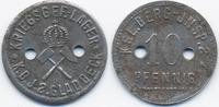 Westfalen - Gladbeck 10 Pfennig Kriegsgef.-Lager K.B.J.2 Galdbeck (Fr. 77.4.4) POW Camp