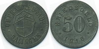 Württemberg 50 Pfennig Balingen - Zink 1918 (Funck 28.2)