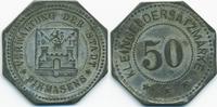 Pfalz 50 Pfennig Pirmasens - Zink vermessingt 1917 (Funck 426.5Ab)