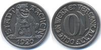 Rheinprovinz 10 Pfennig Aachen - Eisen 1920 (Funck 1.4) Kehrprägung