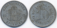 Bayern 10 Pfennig Pförring - Zink vernickelt 1917 (Funck 422.2)