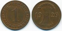 Weimarer Republik 1 Reichspfennig Kupfer