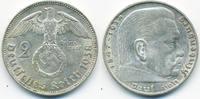 Drittes Reich 2 Reichsmark Hindenburg mit Hk