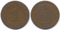 Kaiserreich 1 Pfennig kleiner Adler - Kupfer
