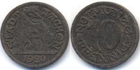 Rheinprovinz 10 Pfennig Aachen - Eisen 1920 (Funck 1.1k) Abschlag in schwarzer Pappe