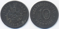 Sachsen 10 Pfennig Thale - Zink 1918 (Funck 537.2b)
