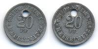 Sachsen/Altenburg - Meuselwitz 20 Pfennig Consum-Verein (Menzel 16722.15) oben 3,10 mm gelocht
