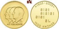 1.500 Kronen 2005, Kongsberg. NORWEGEN Harald V. seit 1991. Polierte Pl... 715,00 EUR  zzgl. 5,90 EUR Versand