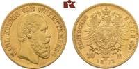 10 Mark 1873. Württemberg Karl, 1864-1891. Fast vorzüglich  395,00 EUR  zzgl. 5,90 EUR Versand