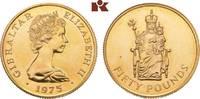50 Pounds 1975. GIBRALTAR Elizabeth II. seit 1952. Vorzüglich  615,00 EUR  zzgl. 5,90 EUR Versand