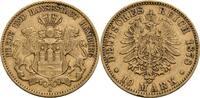 Hamburg 10 Mark J, Hamburg 1878 ss