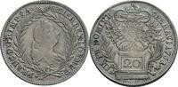 20 Kreuzer, Graz 1761 Habsburg Franz I. (1745-1765) ss +, min. justiert  75,00 EUR  zzgl. 5,90 EUR Versand
