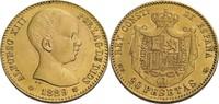 20 Pesetas, Madrid 1889 (1889) Spanien Alfonso XIII., 1886-1931 ss/fast... 365,00 EUR  zzgl. 5,90 EUR Versand
