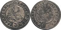 3 Kreuzer, Nagybanya 1699 Habsburg Leopold I., 1657-1705 ss, dunkle Tön... 60,00 EUR  zzgl. 5,90 EUR Versand