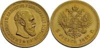 5 Rubel, St. Petersburg 1887 Russland Alexander III., 1881-1894 vz, win... 615,00 EUR  zzgl. 5,90 EUR Versand