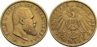 Württemberg 20 Mark F, Stuttgart Wilhelm II., 1891-1918