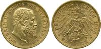 Deutschland Württemberg 20 Mark Wilhelm II.