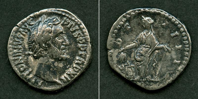 148-149 Antoninus Pius ANTONINUS PIUS Denar ss-vz [148-149] ss-vz