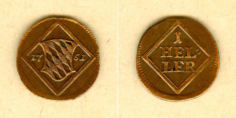 1761 Bayern Bayern 1 Heller 1761 vz selten! vz
