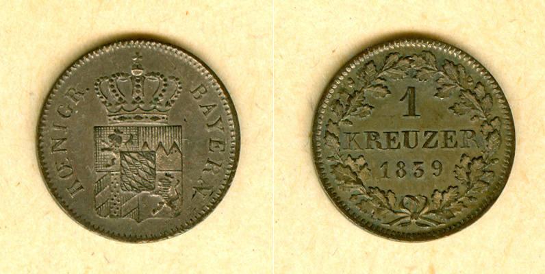 1839 Bayern Bayern 1 Kreuzer 1839 vz-st vz-stgl.!