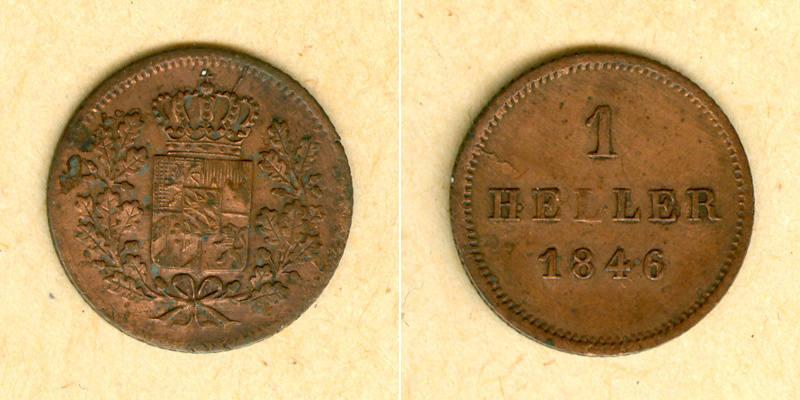 1846 Bayern Bayern 1 Heller 1846 ss-vz ss-vz