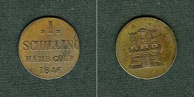 1846 Hamburg Hamburg 1 Schilling 1846 vz- vz-