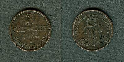 1864 Oldenburg Oldenburg 3 Schwaren 1864 B vz- vz-
