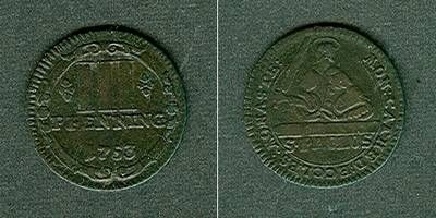 1753 Münster - Domkapitel Münster Domkapitel 3 Pfennige 1753 ss ss