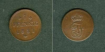 1831 Mecklenburg Mecklenburg Schwerin 1 Pfennig 1831 vz vz