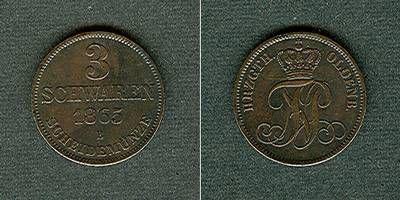 1865 Oldenburg Oldenburg 3 Schwaren 1865 B ss-vz ss-vz