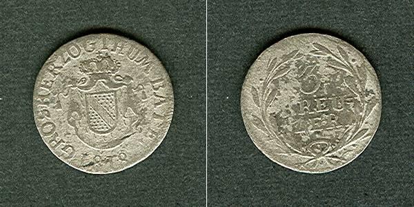 1818 Baden Baden 3 Kreuzer 1818 s-ss s-ss