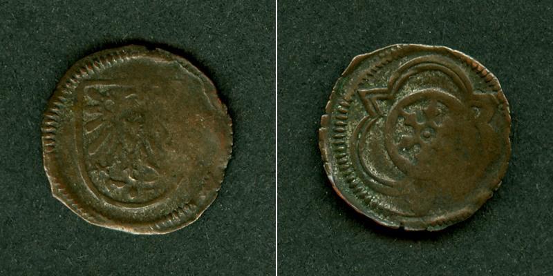 1482-1508 Osnabrück Osnabrück Bistum Vierling o.J. ss+ selten [1482-1508] ss+