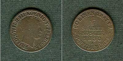 1830 Brandenburg-Preußen Preussen 1/2 Silber Groschen 1830 A s/s+ selten! s/s+