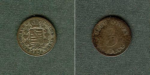 1834 Sachsen-Coburg-Gotha Sachsen Coburg und Gotha 3 Kreuzer 1834 ss ss