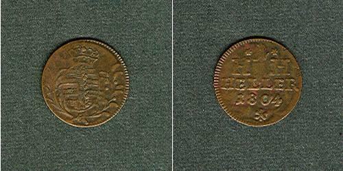 1804 Sachsen-Hildburghausen Sachsen Hildburghausen 1 Heller 1804 ss+ ss+