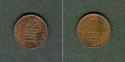 1865 Sachsen-Weimar-Eisenach Sachsen Weimar und Eisenach 1 Pfennig 1865 A vz-stgl. vz-stgl.