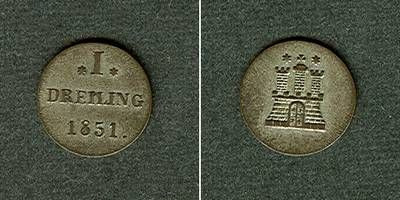 1851 Hamburg Hamburg Dreiling 1851 ss-vz/vz ss-vz/vz