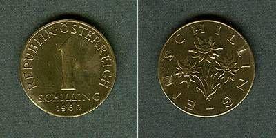 1960 Österreich Österreich 1 Schilling 1960 vz+ vz+
