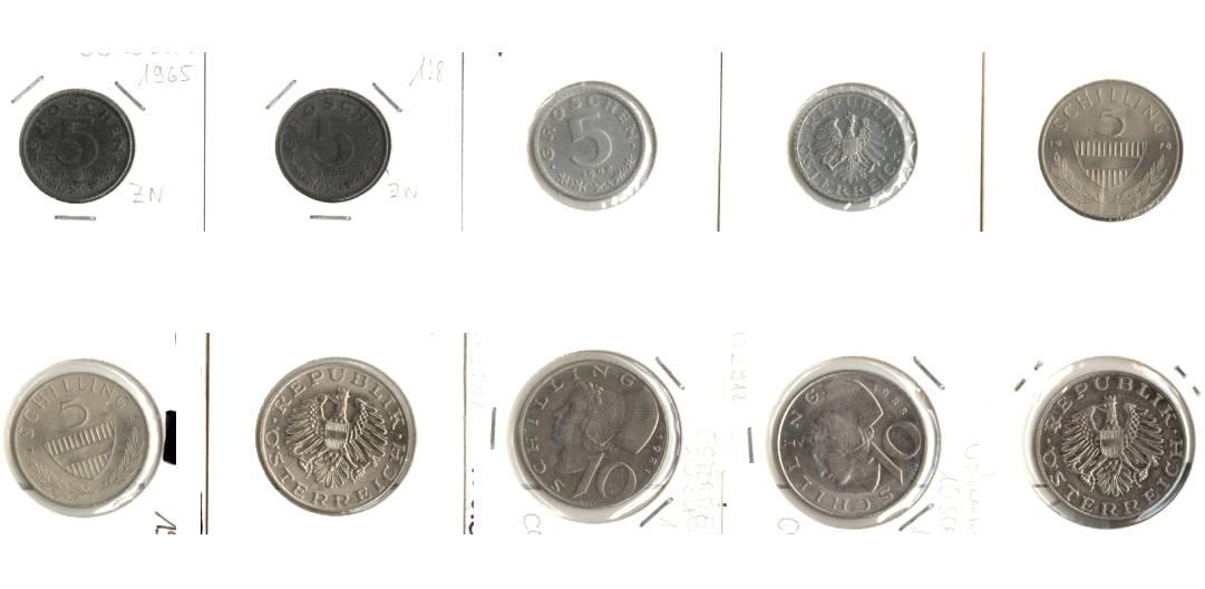 1965-1990 Österreich Lot: ÖSTERREICH 10x Münzen [1965-1990]