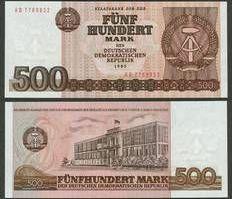 1985 Staatsbank der DDR 1971-1989 DDR: 500 MARK 1985 Ro.365a I