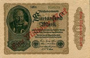 1923 Geldscheine Inflation 1919-1924 1 MILLIARDE MARK 1923 Ro.110g II+ II+