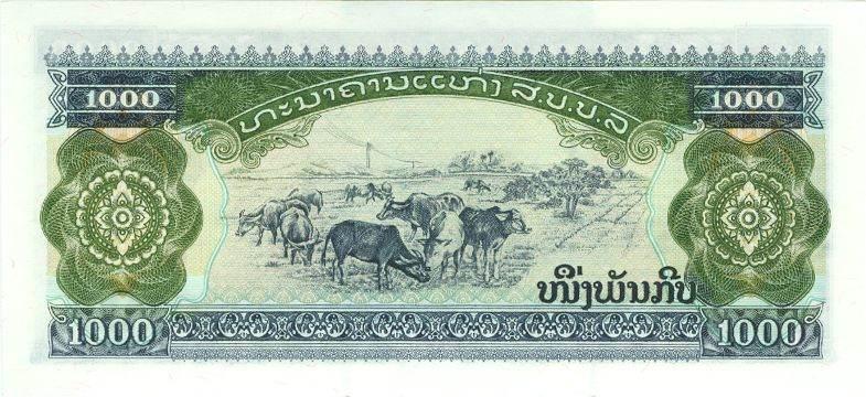 1992 Laos LAOS 1000 Kip 1992 I