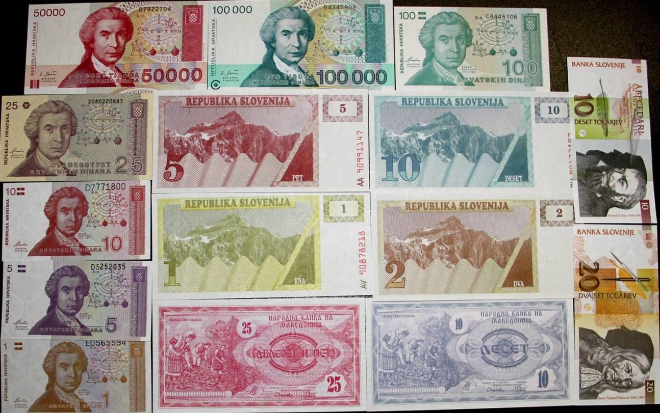 1990-1993 Sonstige & Lots Lot: JUGOSLAWIEN / YUGOSLAVIA Mix 15x Banknote I [1990-1993] BANKFRISCH erhalten!