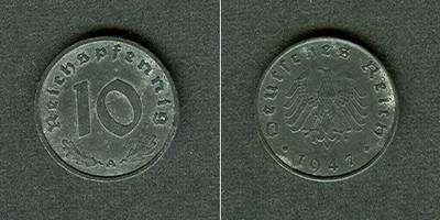 1947 Alliierte Besetzung Deutschland 10 Pfennig 1947 A vz- vz-