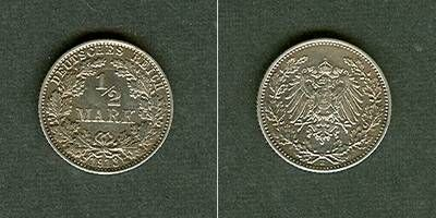 1913 Kleinmünzen 1/2 Mark Deutsches Reich 1/2 Mark 1913 E vz-stgl. vz-stgl.