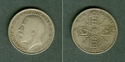 1921 Großbritannien Großbritannien One Florin 1921 s+/ss s+/ss