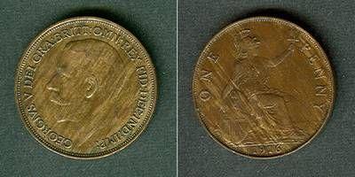 1916 Großbritannien Großbritannien One Penny 1916 ss-vz ss-vz