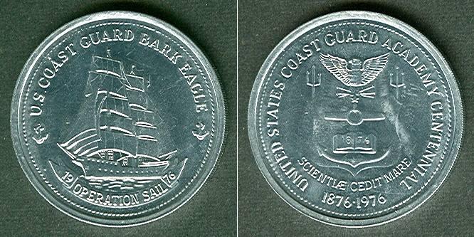 1976 Medaillen und Jetons Medaille USA 100 Jahre USCG Academy 1976 vz-stgl. vz-stgl.