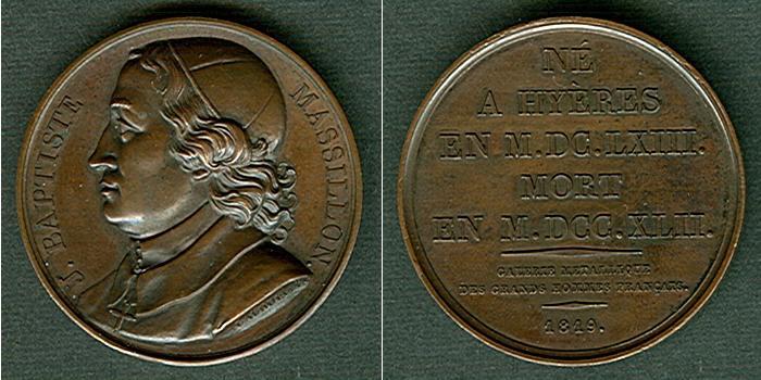 1819 Medaillen und Jetons Medaille FRANKREICH 1819 J.B. Massillon BRONZE vz-stgl. vz-stgl.