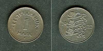 1922 Estland ESTLAND 1 Mark 1922 vz- vz-
